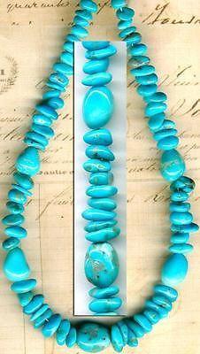 "Southwest Kingman Mine Turquoise Beads Blue 8"" Strd 4 10mm Natural Arizona USA | eBay"