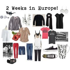 """2 Weeks in Europe"" by camillego on Polyvore - workable capsule"