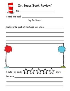 Dr. Seuss Book Review for Dr. Seuss week