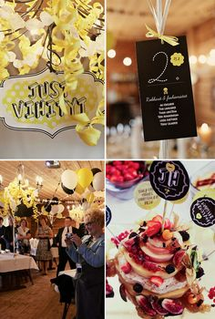 HEY LOOK: A YELLOW, BLACK & WHITE WEDDING FULL OF PERSONALITY