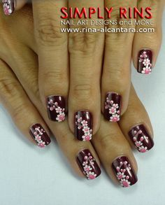 Nail Art: Up With Flowers and a Wedding   Simply Rins