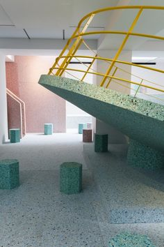 [coloured concrete inspiration] Gallery: Assemble's Brutalist Playground Opens at RIBA