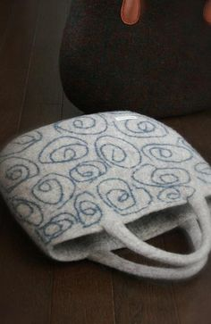 Hand made felt bag guruguru big Choose Shop ♡