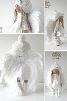Angel tilda doll Winter doll Art doll by AnnKirillartPlace on Etsy