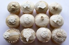Vintage Cupcakes for Wedding