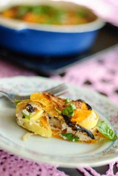 Dairy Free Butternut Squash Gratin with delicious fall flavors and no ill dairy effects.