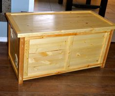 Pine Toy Box.  Built for two very special little twin boys, Eldon & Emmett. One of the few pieces where I used all new materials.