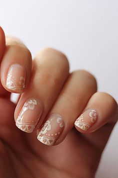 lace manicure by tenshi no hana - beauteous!