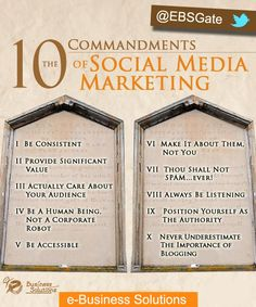 10 Commandments of Social Media Marketing by #EBSGate.