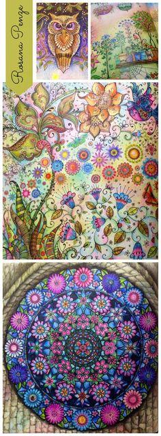 #inspiration #color #secretgarden #painting #color #design Atelier Gina Pafiadache: Dicas para colorir os livros Jardim Secreto e Floresta Encantada!