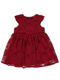 Lace Bow Dress, read reviews and buy online at George at ASDA. Shop from our latest range in Baby. Your little one will look oh-so sweet in this darling red ...