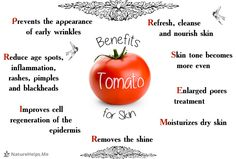 Tomato Face Mask. Enlarged pores treatment