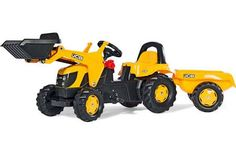 JCB Ride-On Tractor with Frontloader and Trailer