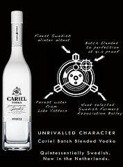 Cariel Batch Blended VodkaCariel Batch Blended's uses Swedish Winter Wheat + barley = unrivalled character. twitter.com/#!/cariel vodka