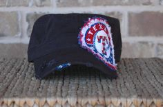 What a cute hat! I wish I had the patience to make something like this. Instead, I think I will buy it and wear it to Opening Day as well. Go Rangers!