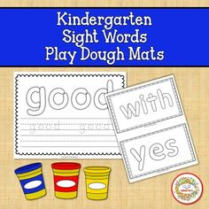 Playdough Sight Word Mats Kindergarten by Sweetie's | TpT Help Teaching, Teaching Reading, Teaching Ideas, Learning Resources, Student Learning, Kindergarten Blogs, School Reviews, Learn To Spell, Sight Word Activities