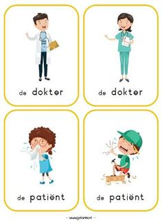 rollenkaarten Site Bekijken by JolienDebing. Montessori, Pretend Play, Clinic, Kids, Health, Human Body, Blue Prints, Preschool, Anatomy