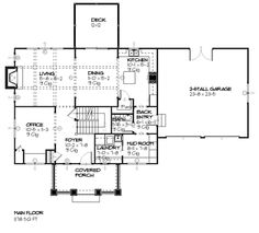 Traditional Style House Plan - 3 Beds 2.5 Baths 2294 Sq/Ft Plan #901-24 Floor Plan - Main Floor Plan - Houseplans.com