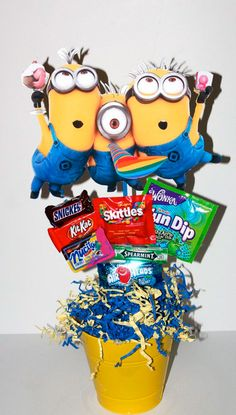 Despicable Me Minions Birthday Party by akidswonderland on Etsy Minion Party Theme, Despicable Me Party, Minion Birthday, Boy Birthday, Party Themes, Birthday Ideas, Party Ideas, Minion Centerpieces, Birthday Party Centerpieces