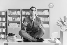 The power of meditation can increase productivity in an office or work environment enhancing creativity and focus resulting in improvements in efficiency.