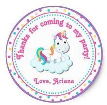 1.5 pulgadas unicornio de cumpleaños del Favor de partido Tag etiqueta(China (Mainland))