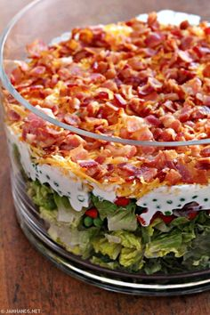 Seven Layer Salad is a classic side dish at many potlucks and get togethers. Our family recipe, Mom's Layered Pea Salad , is still my fav...