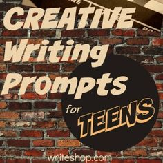 Write one-syllable-word stories, turn a personal experience into a movie synopsis, and write from fresh points of view with these creative writing prompts for middle and high school kids.