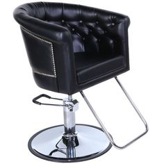 New Beauty Salon Equipment Black Vintage Hydraulic Hair Styling Chair SC-37BLK