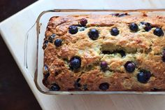Blueberry banana bread - double the fruit and double the deliciousness! All the sweet slices will be gone before you know it.