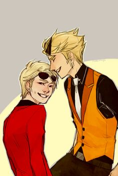 Excuse me while I die from the sheer adorableness of this picture. Not that I approve of Stridercest, though.
