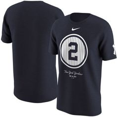 60a390def Men s New York Yankees Derek Jeter Nike Navy Retirement Day Swoosh  Pinstripe T-Shirt