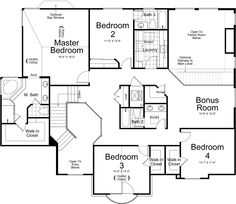 Tuscany Ivory Homes Floor Plan - Upper Level