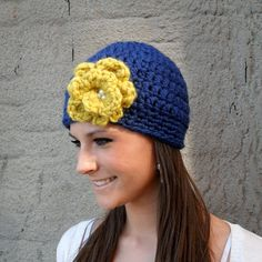 Women's Notre Dame Hat by anitoes on Etsy, $28.00 god for blues games!