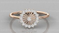Diamond Ring / 14k Gold Floral Diamond Ring / Floral Cluster Diamond Ring / Minimalist Diamond Flower / Cluster Diamond Ring by UmbrellaJewels on Etsy Diamond Flower, Diamond Cluster Ring, Halo Diamond, Diamond Rings With Price, Round Diamonds, Natural Diamonds, Round Cut Diamond, Or Rose, Rose Gold