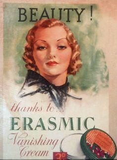 Skin Care Erasmic Vanishing Cream Skincare, UK (1920)
