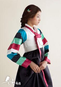Gorgeous girl wearing hanbok.
