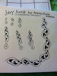 Rampart Zentangle pattern by TexasDoxieMama Zentangle Drawings, Doodles Zentangles, Doodle Drawings, How To Zentangle, Zentangle For Beginners, Tangle Doodle, Zen Doodle, Doodle Art, Zantangle Art