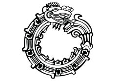Aztec Creation myths, this is a symbol representing Quetzalcoatl; the feathered serpent  god who played a major role in the Aztec era.