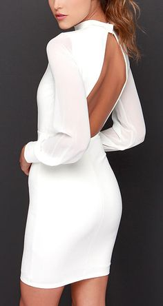 Open back pencil dress