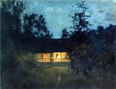 Isaac Levitan, At the summer house in twilight, c.1895.