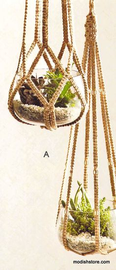 Roost Jute Hanging Planters