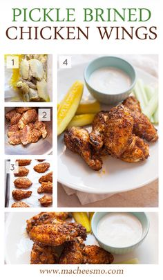 Pickle Brined Chicken Wings: These are your new favorite wings. Trust me! Don't toss out that pickle juice next time you have an empty jar! Brining Chicken, Brine For Chicken Wings, Baked Chicken Wings, Chicken Wing Recipes, Tandoori Chicken, Meat Recipes, Cooking Recipes, Keto Chicken, Recipies