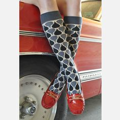 Polly Knee High Black, $13.50, now featured on Fab.