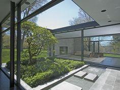 philip johnson / hodgson house, new canaan #courtyard