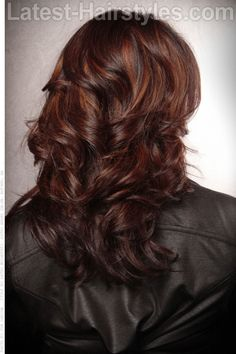 Copper and Red Tones on Dark Brown Hair-love this----might have to re-color my hair!