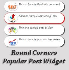 Round Corners Popular Post Widget for Blogger | Blogger Trix | Blogger Tips and Tricks | Free Templates
