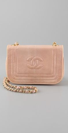 this vintage chanel bag is BANANAS