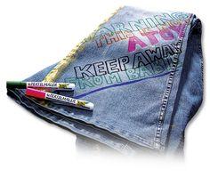 Textilstifte von Max Bringmann verleihen Klamotten den letzten Schliff und sorgen für den persönlichen Touch. Mehr unter http://www.folia.de