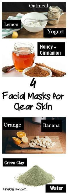 Get clear radiant skin with homemade natural recipes and great tips.