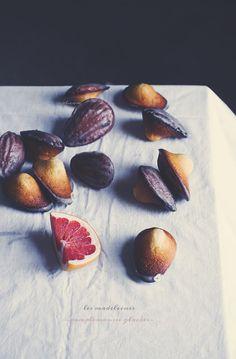 madeleines   Claudia Ambu Photographer© Small Tea, Tea Cakes, Biscotti, Plum, Peach, Favorite Recipes, Sweets, Chocolate, Fruit